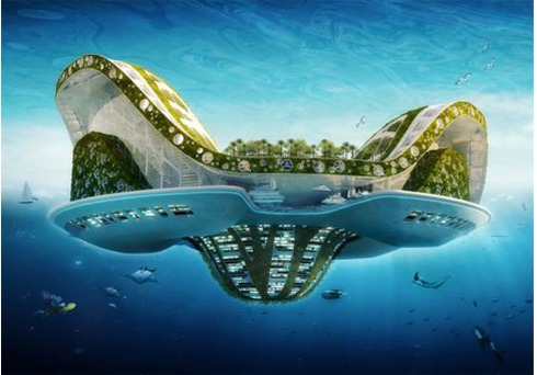 The Lilypad, a floating ecopolis with greenroofs and greenwalls for future climate change refugees