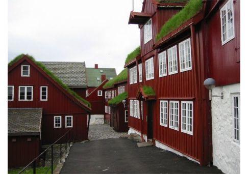 Turf Roofs Everywhere in Torshaven, photo by Jon Fossa, faroeislands.dk