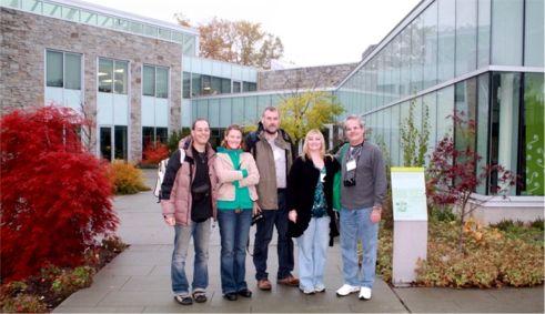 Marco, Christine, Roland, Linda & Aramis at the Toronto Botanical Gardens; Photo by Dusty Gedge