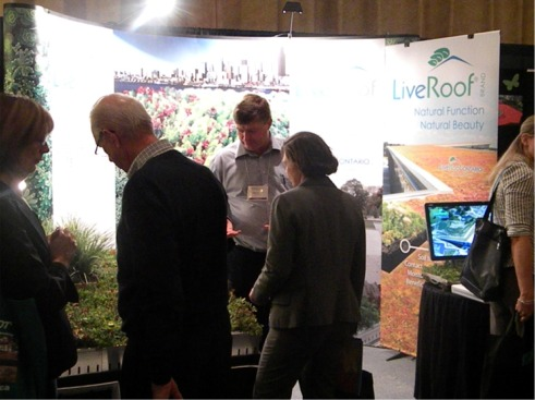 The LiveRoof booth