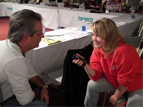 Aramis speaking with Lynn