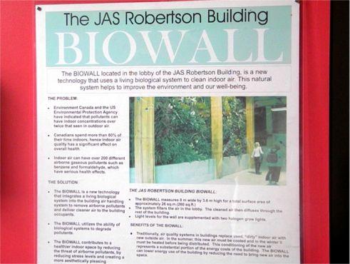 Biowall Lobby Signage