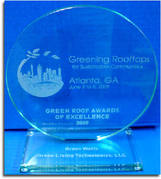 The Green Roofs for Healthy Cities Award of Excellence for Green Walls