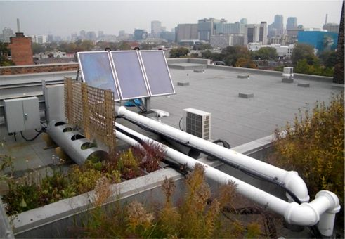 The Solar Thermal System on the Robertson Roof