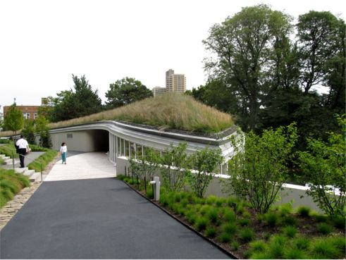 Brooklyn Botanic Garden Visitor Center; Photo Courtesy of New York Green Roofs