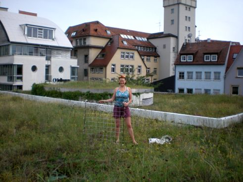 Christine atop the Rathaus