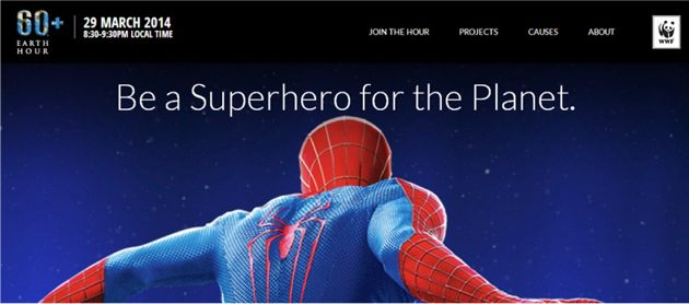 EarthHour2014-Spider-Man
