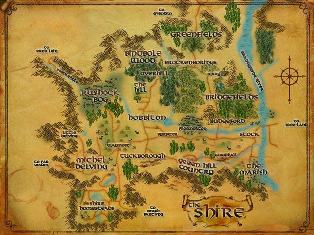 Hobbiton-lotro-wiki-Shire_mapbyDanielReeve