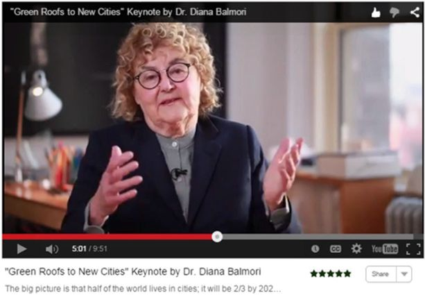 Virtual Summit 2015 Video Green Roofs New Cities Diana Balmori