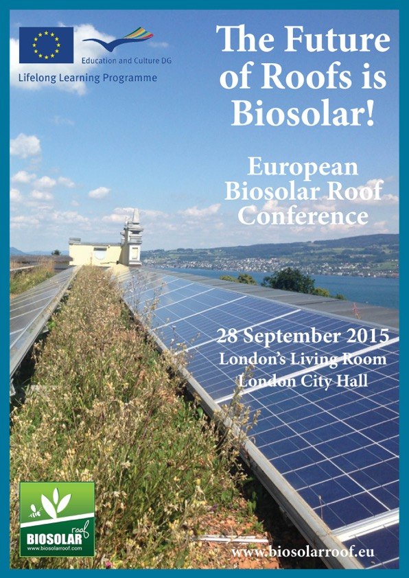 BIOSOLAR ROOFS CONFERENCE 2015 BROCHURE