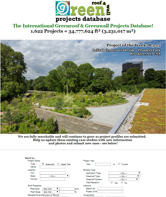 ProjectsDatabaseHomepage