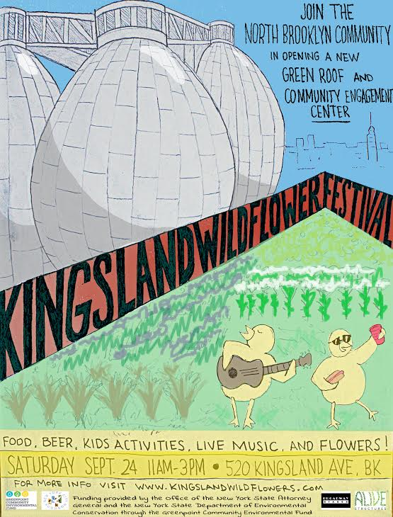 Kingsland Wildflower Festival Greenroof Community Engagement Center Brooklyn