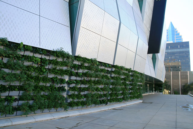 With Seven Green Walls The Exterior Of Golden 1 Center