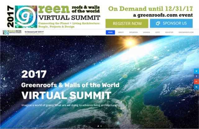2017 Greenroofs Walls World Virtual Summit Ending on December 31