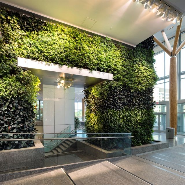 Greenroofs.com Project Week Edmonton Federal Building Living Wall Biofilter