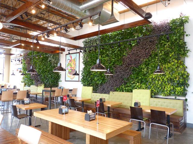 Greenroofs.com Project Week July 2017 Brome Burgers Shakes Green Walls