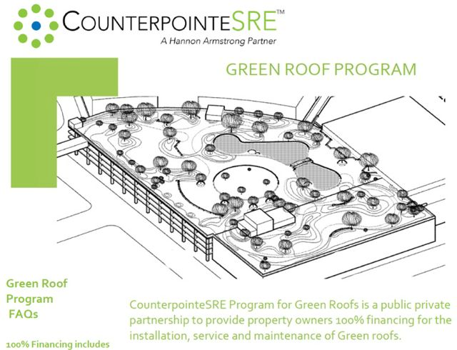 CounterpointeSRE Program Announces Innovative PACE Financing Greenroofs