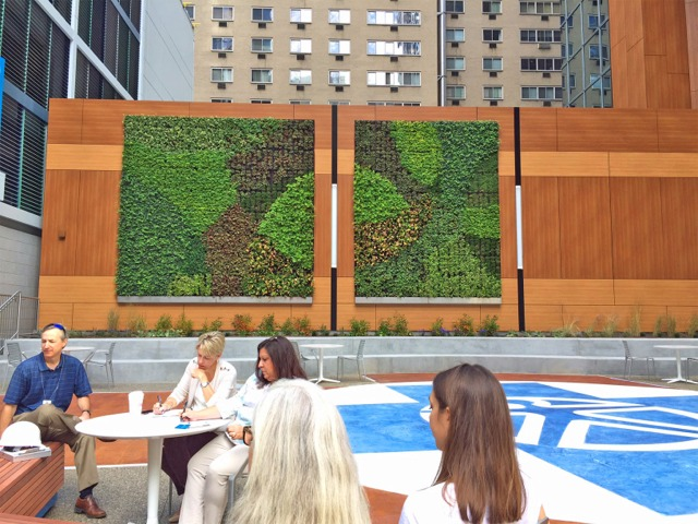 Greenroofs.com Project Week August 28 Independence Blue Cross Living Wall