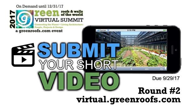 Greenroofs.com Virtual Summit 2017 Round #2 Call Short Videos