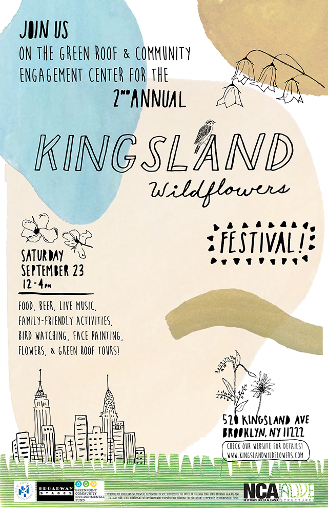 Native NYC Wildlife Kingsland Wildflowers Green Roof Festival September 2017
