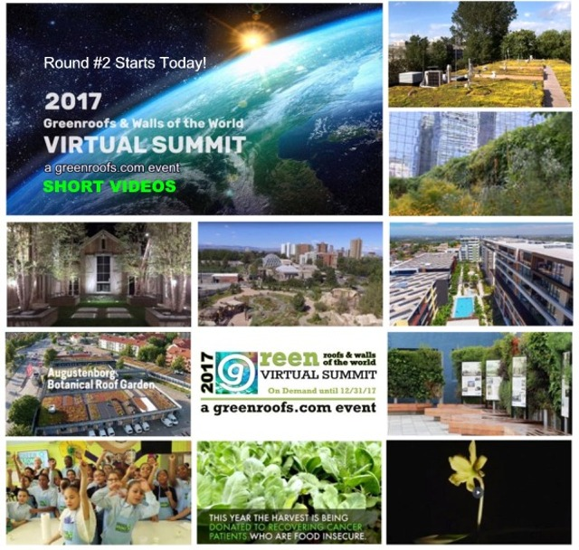 2017 Greenroofs Walls World Virtual Summit Round #2 Special Pricing