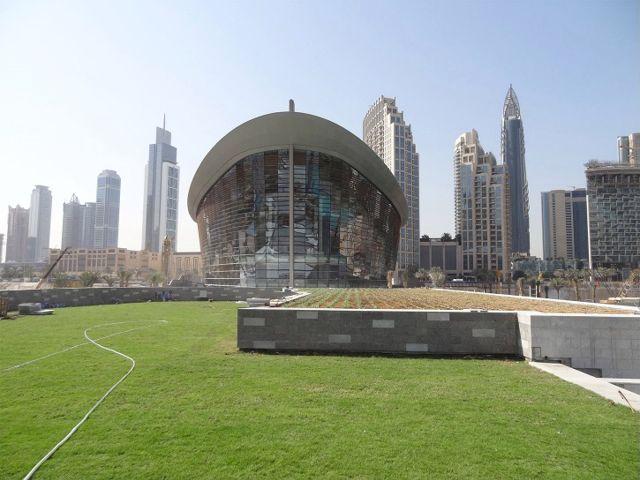 Greenroofs.com Project Week Dubai Opera Garden Green Roof Greenwalls