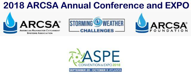 ARCSA 2018 Rainwater Harvesting Conference