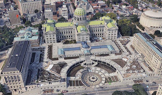 Pennsylvania State Capitol East Wing Plaza