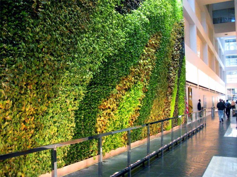 23 Story Atrium Living Wall Greenroofs Com