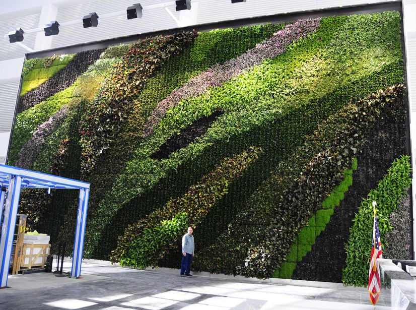 23 Story Atrium Living Wall
