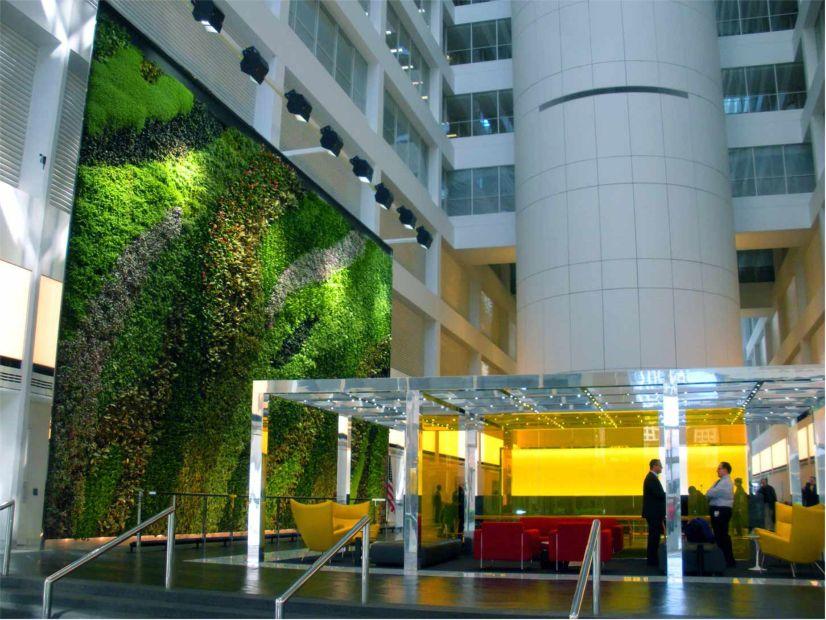 23 Story Atrium Living Wall Greenroofs