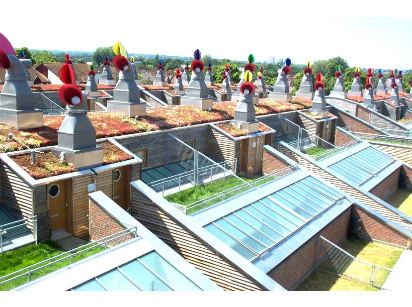 BedZED (Beddington Zero Energy Development) - Greenroofs com