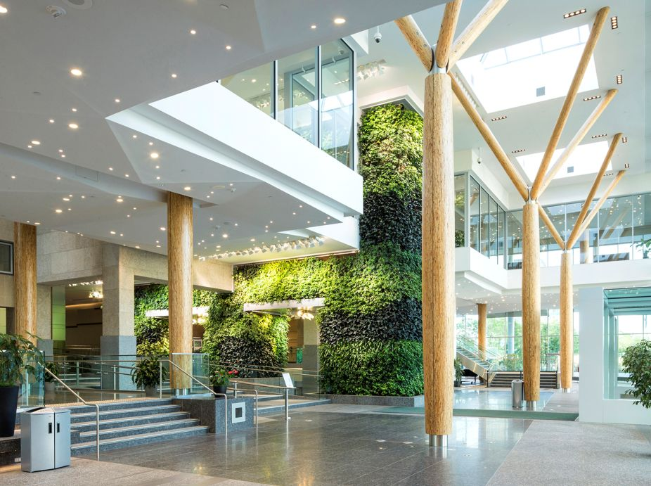 edmonton federal building living wall biofilter. Black Bedroom Furniture Sets. Home Design Ideas