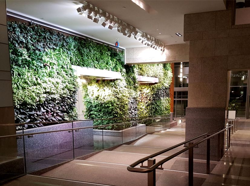 Edmonton federal building living wall biofilter - How to build a living wall ...