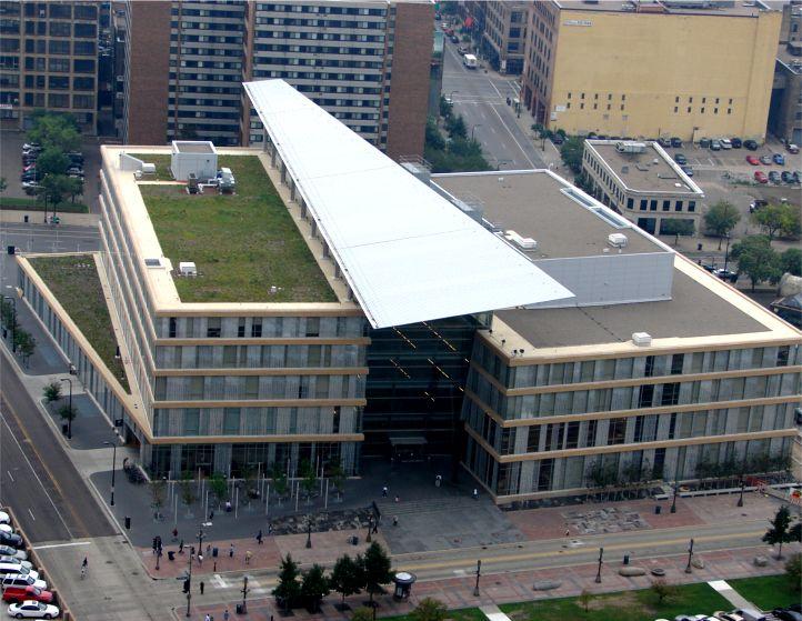 Minneapolis Central Library Greenroofs Com