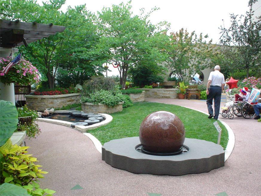 Olson Family Garden, St. Louis Children\'s Hospital - Greenroofs.com