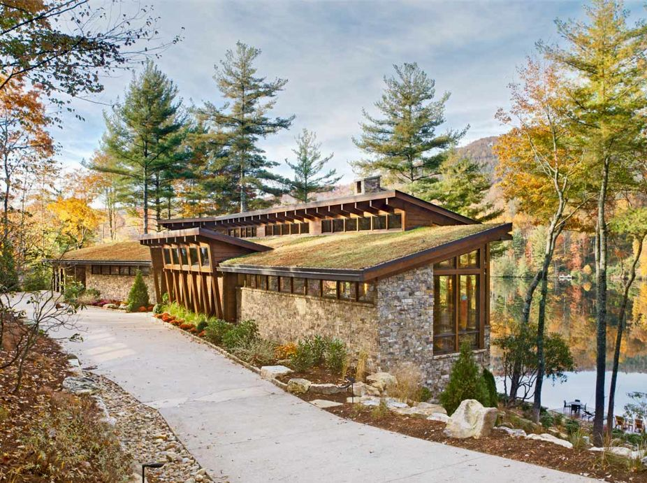 Private Lake Toxaway, NC Residence Green Roof Featured Image