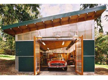 Sproull Radke Green Roof Garage Workshop Greenroofs Com
