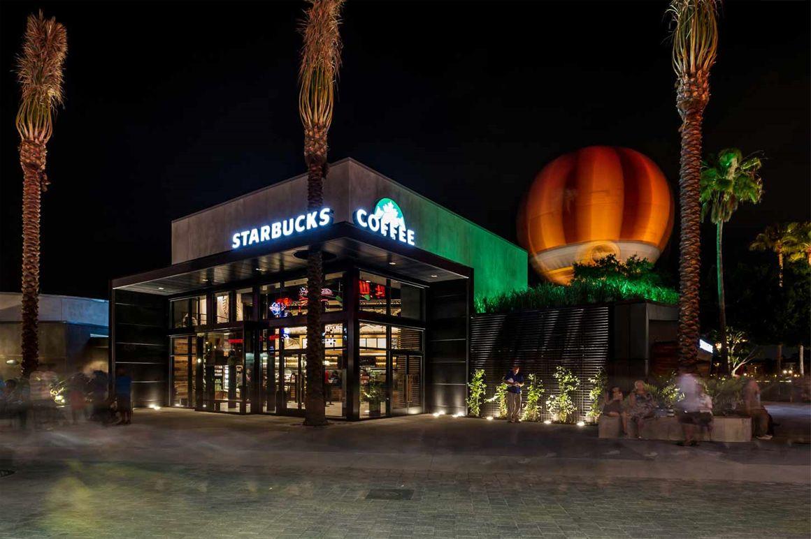 Starbucks Green Roof Downtown Disney Walt Disney World