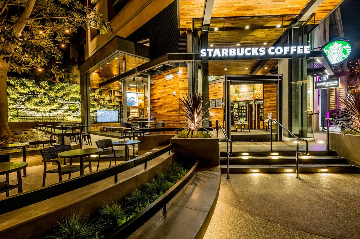 Starbucks Living Wall At Downtown Disney Anaheim