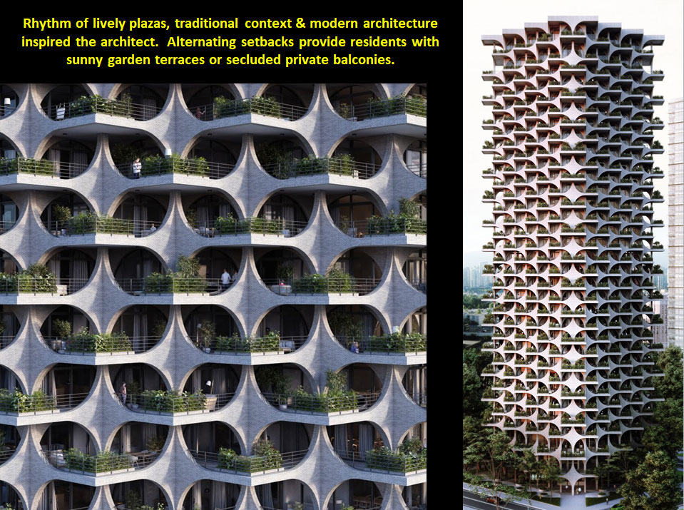 #5: Lushly Landscaped 'Fractalized' Terrace Towers