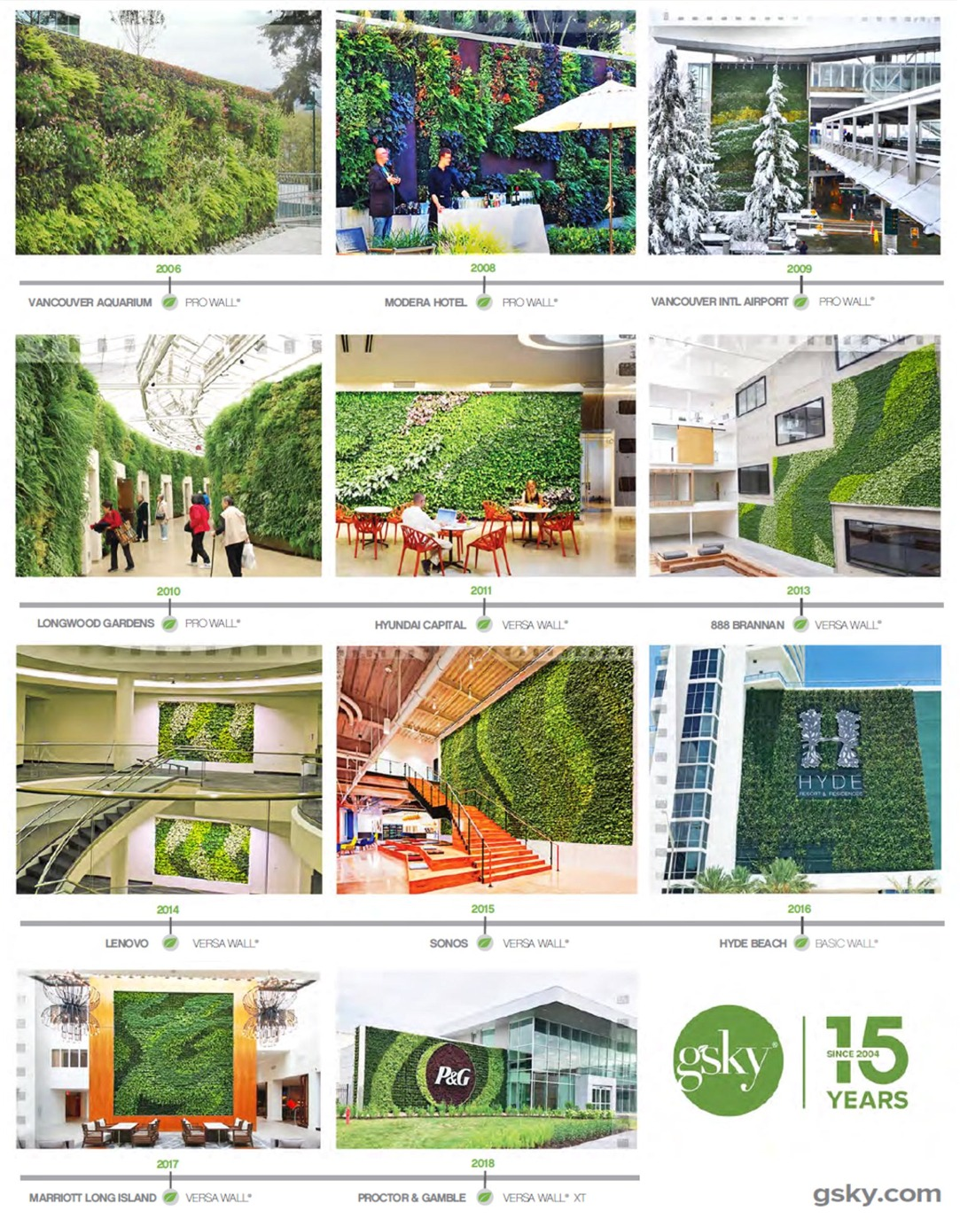 Gsky Living Green Walls: GSky® Expands Global Living Wall Installations In 15th