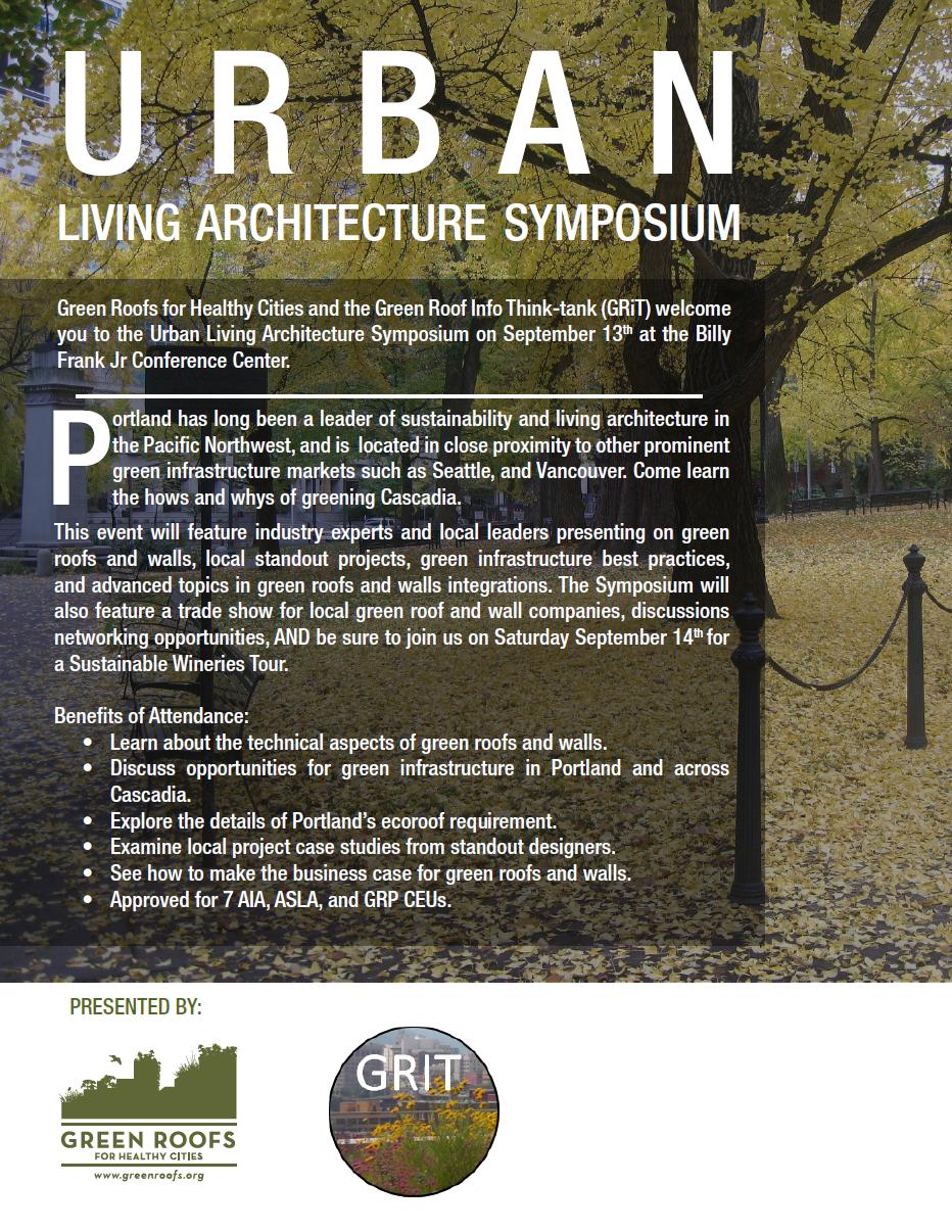 Urban Living Architecture Symposium in Portland
