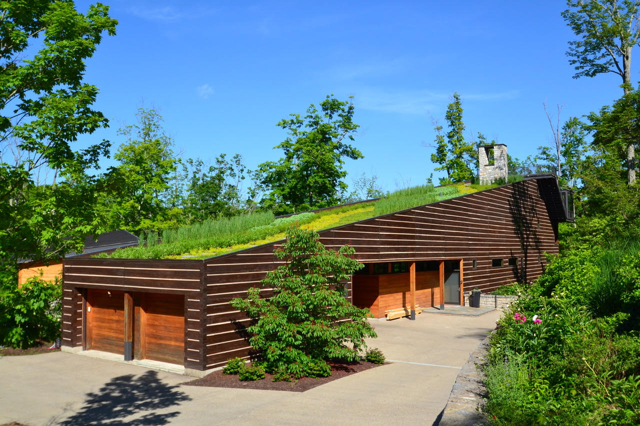 Indian Hill House Green Roof