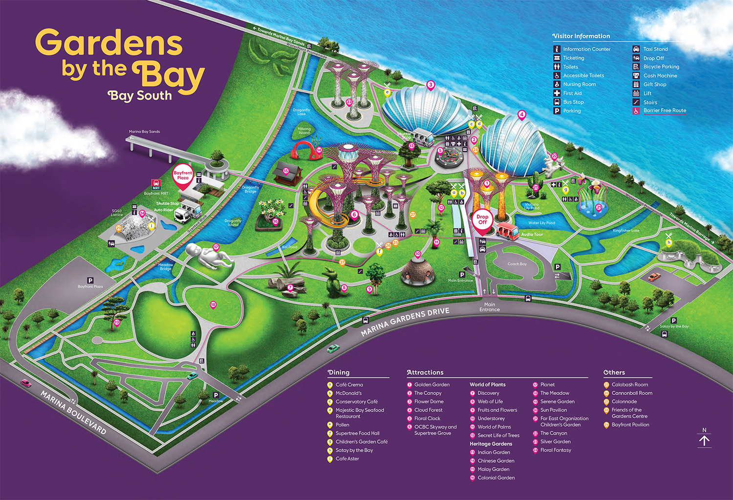 gardens by the bay map sept2020 - Gardens By The Bay Entrance Fee 2018