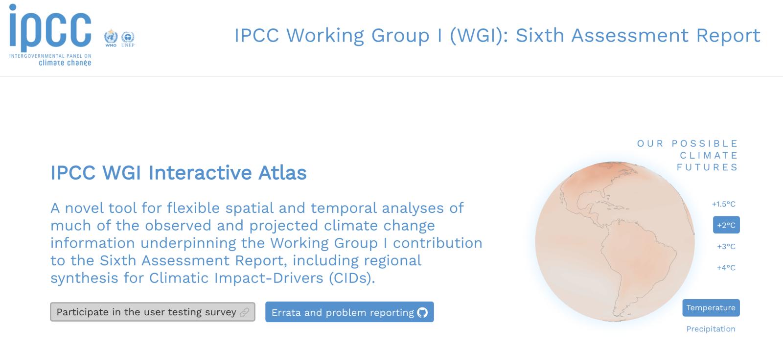 IPCC's New Interactive Atlas